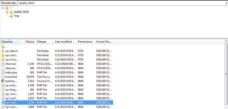 Blog B2B Host   Edite seu arquivo wp-config.php.