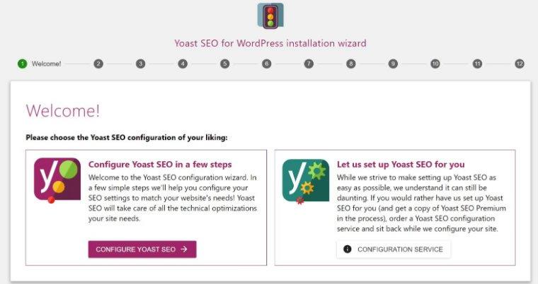 Blog B2B Host | Marketing Digital - Utilize o Yoast SEO Configuration Wizard.