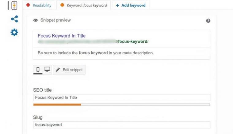 Blog B2B Host | Marketing Digital - Use os recursos de palavra-chave e legibilidade do Yoast.