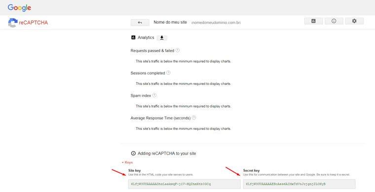 Blog B2B Host | Segurança da Informação - Registre seu site no reCAPTCHA do Google.