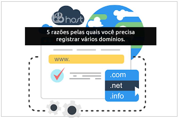Blog B2B Host | Registro de Domínios - 5 razões pelas quais você precisa registrar vários domínios.