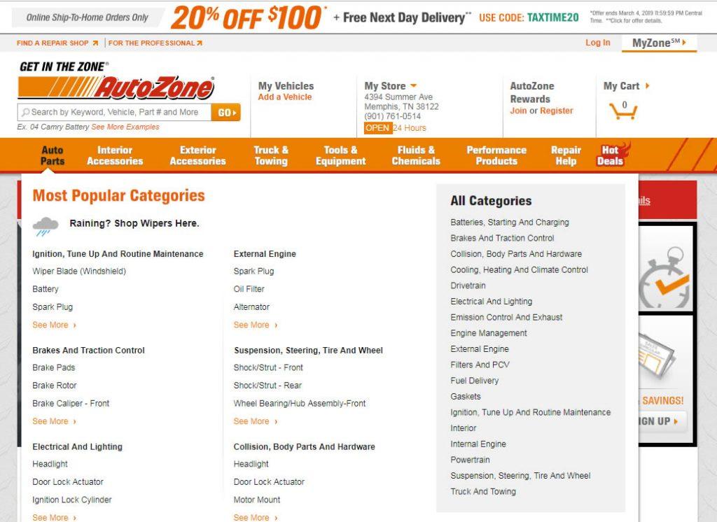 Blog B2B Host | Crie categorias de produtos que façam sentido para seus clientes - Auto Zone.